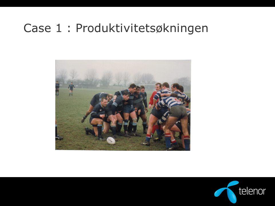 Case 1 : Produktivitetsøkningen
