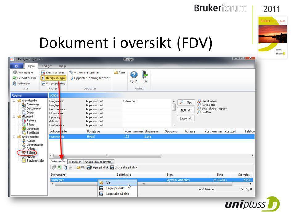 Dokument i oversikt (FDV)