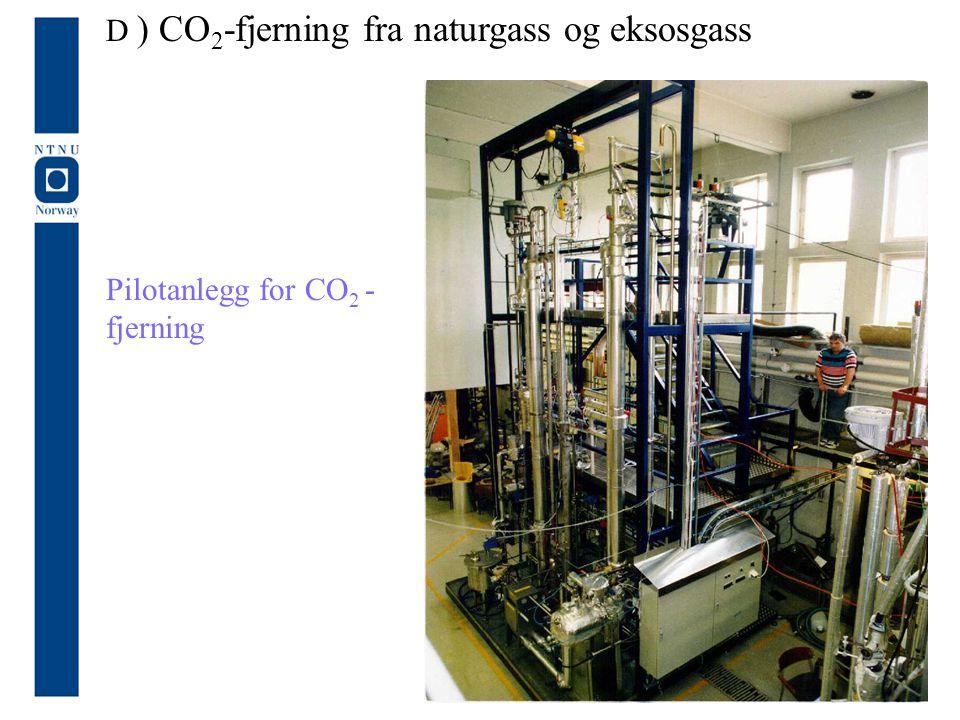Pilotanlegg for CO 2 - fjerning