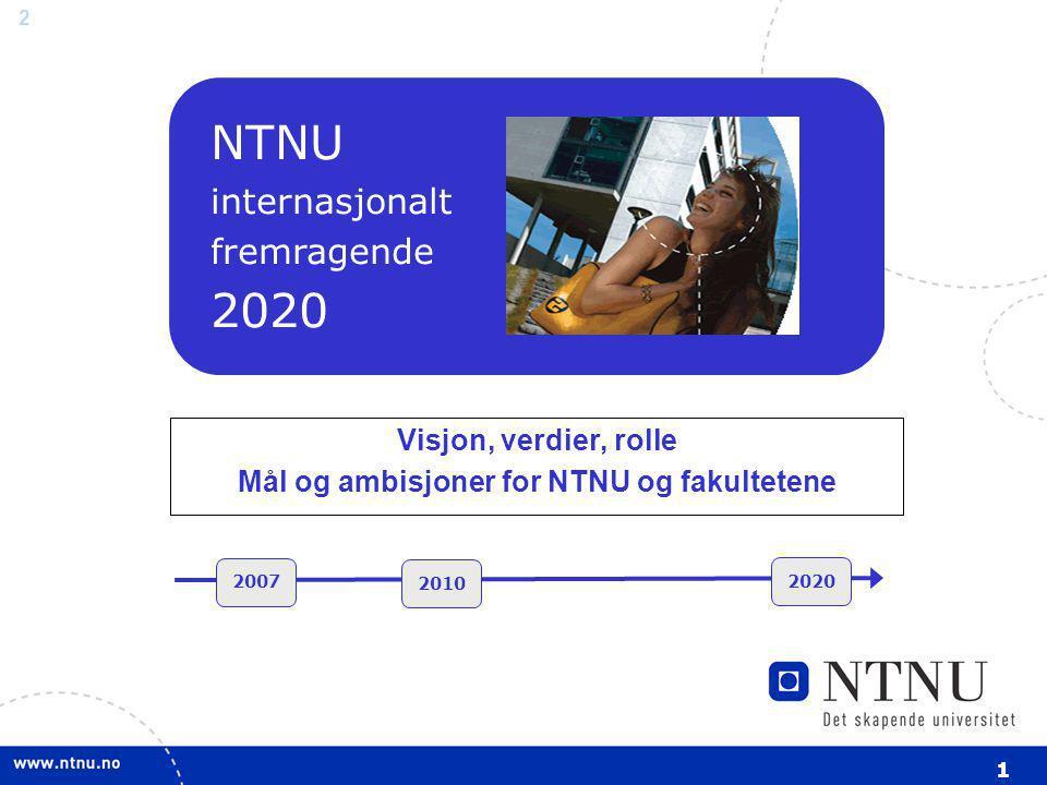 3 Handlings- planer NTNU Strategi for NTNU (styrebehandles august 2006) Strategi for NTNU (styrebehandles august 2006) Handlings- planer NTNU Handlings- planer fakultet Handlings- planer NTNU Handlings- planer institutt Strategiske initiativ NTNU internasjonalt fremragende 2020 Kreativ Konstruktiv Kritisk Rolle: NTNU skal være et relevant, fremtidsrettet og attraktivt universitet, som bidrar til nasjonal og internasjonal kunnskapsutvikling og verdiskaping i samfunnet.