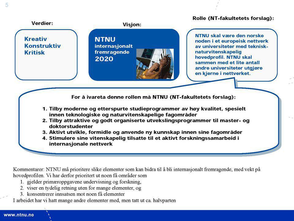 6 NT-fakultetets målstyrings-arbeid