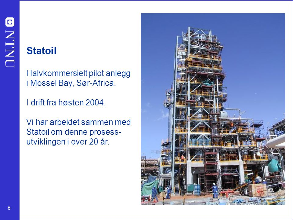 7 Advanced catalyst/reactor systems for conversion of hydrocarbons to hydrogen for fuel cells SINTEF Applied Chemistry –Catalysis and Kinetics Department –Hydrocarbon Process Chemistry Department The Norwegian University of Science and Technology –Department of Chemical Engineering SINTEF Materials Technology –Department of Process Metallurgy and Ceramics International collaboration with Forschungzentrum Karlsruhe, Germany CHEMICAL HYDROGEN CARRIER FUEL CELL H 2 + O 2  H 2 O AIR ANODE GAS CATHODE GAS ELECTRICITY EVAPORATION HEAT EXCHANGE PARTIAL OXIDATION/ STEAM REFORMING WATER GAS SHIFT CO + H 2 O  CO 2 + H 2 CO-REMOVAL CO + ½O 2  CO 2 EXHAUST (CLEAN) Forschungzentrum Karlsruhe
