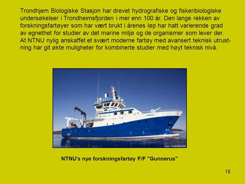 15 Trondhjem Biologiske Stasjon har drevet hydrografiske og fiskeribiologiske undersøkelser i Trondheimsfjorden i mer enn 100 år. Den lange rekken av
