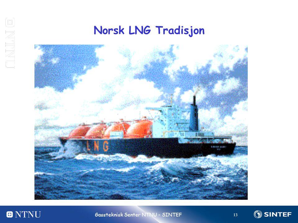 13 Gassteknisk Senter NTNU - SINTEF Norsk LNG Tradisjon