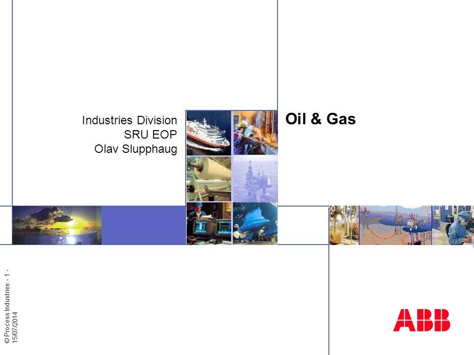 © >Process Industries - 2 - SRU Enhanced Oil Production Et av flere SRU'er i Business Area Petroleum and Chemicals som ligger i Division Industries Globalt ansvar innenfor ABB for leveranse av avanserte regulerings/optimaliserings løsninger/tjenester til off- shore olje- og gass produksjons industri 16 ansatte i forretningsutvikling/salg/prosjekter på Hasle + 6 på forskningssenteret på Billingstad