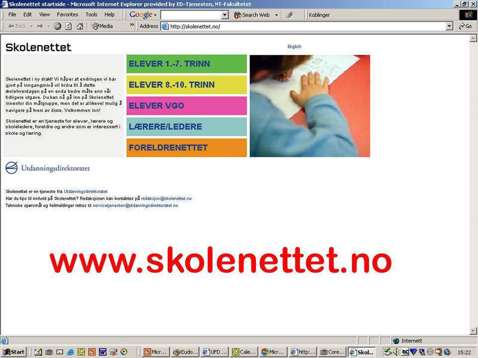 www.skolenettet.no