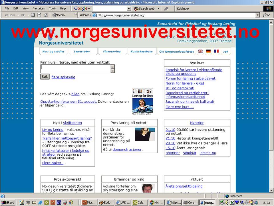www.norgesuniversitetet.no