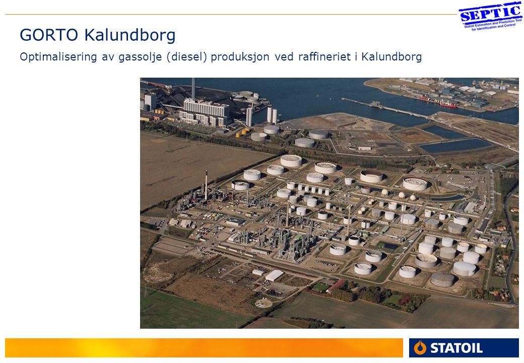2 GORTO Kalundborg Optimalisering av gassolje (diesel) produksjon ved raffineriet i Kalundborg Kalundborg