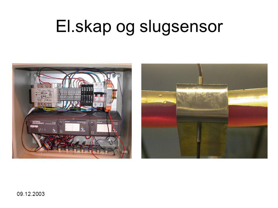 09.12.2003 Oppsummering God måleverdi: P 1 PI-regulator designet ved bruk av Storkaas sin forenklede modell stabiliserer strømningen