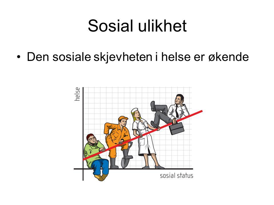 Sosial ulikhet Den sosiale skjevheten i helse er økende