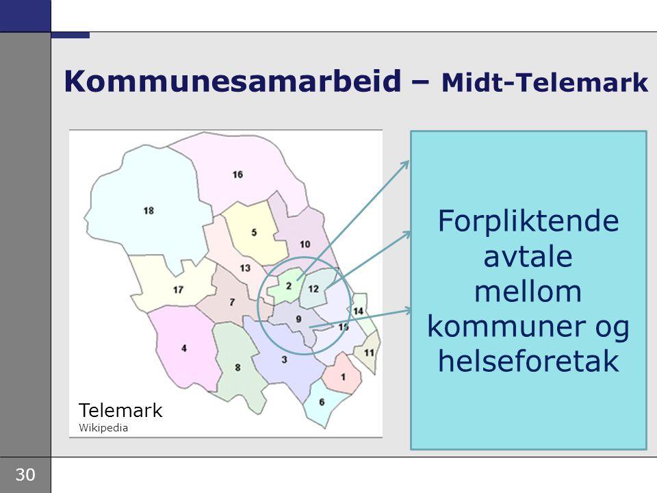 30 Kommunesamarbeid – Midt-Telemark Bø 5 500 Sauherad 4 200 Nome 6 500 Telemark Wikipedia 16 200 Forpliktende avtale mellom kommuner og helseforetak