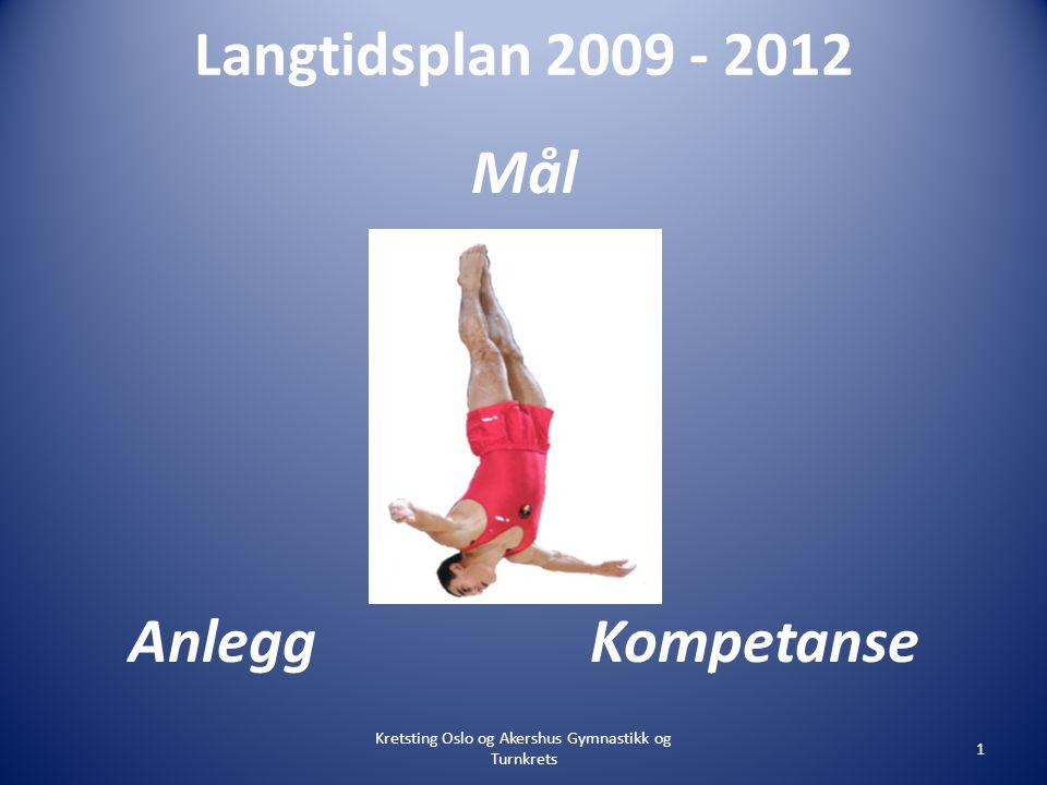 Langtidsplan 2009 - 2012 Mål Anlegg Kompetanse Kretsting Oslo og Akershus Gymnastikk og Turnkrets 1