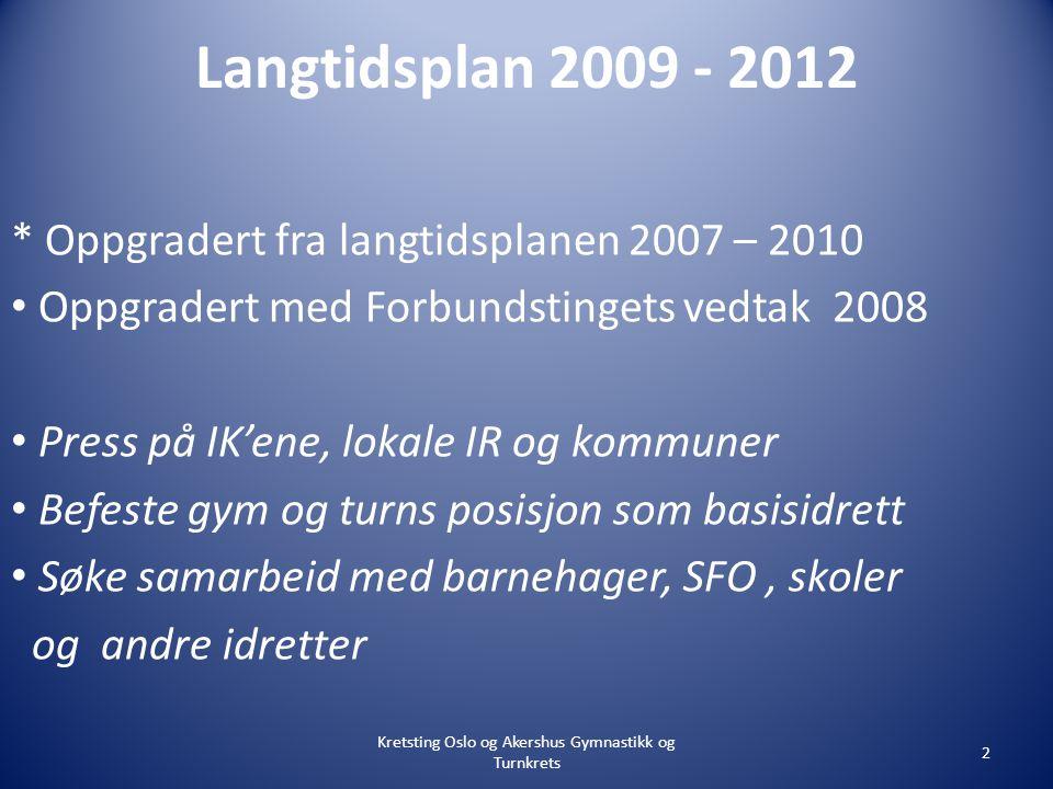 Visjon og virksomhetsidè Gymnastikk og turn skal være en idrett som favner alle i felles idrettsglede.