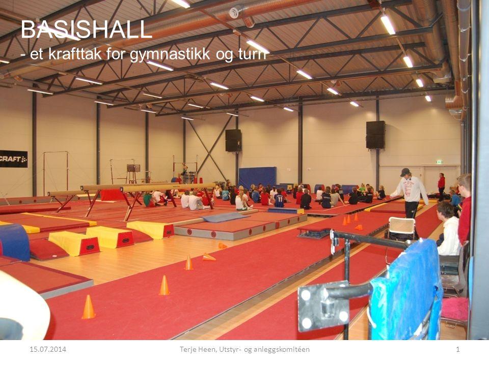 15.07.2014Terje Heen, Utstyr- og anleggskomitéen1 BASISHALL - et krafttak for gymnastikk og turn