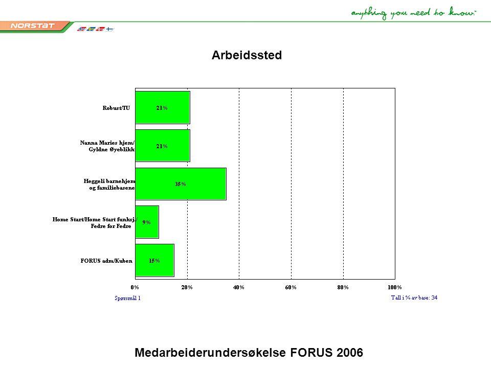 Medarbeiderundersøkelse FORUS 2006 Arbeidssted