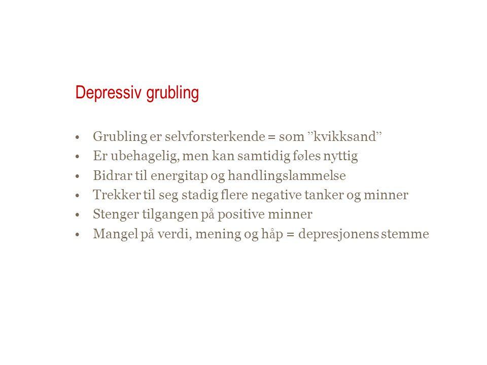 Hva er depressiv grubling.