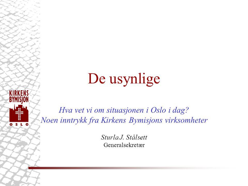 De usynlige Hva vet vi om situasjonen i Oslo i dag.