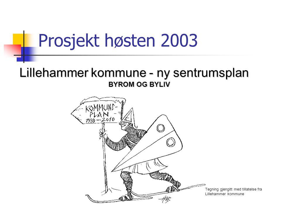 Prosjekt høsten 2003 Lillehammer kommune - ny sentrumsplan BYROM OG BYLIV Tegning gjengitt med tillatelse fra Lillehammer kommune