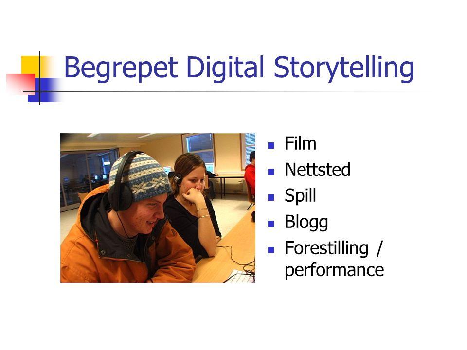 Begrepet Digital Storytelling Film Nettsted Spill Blogg Forestilling / performance