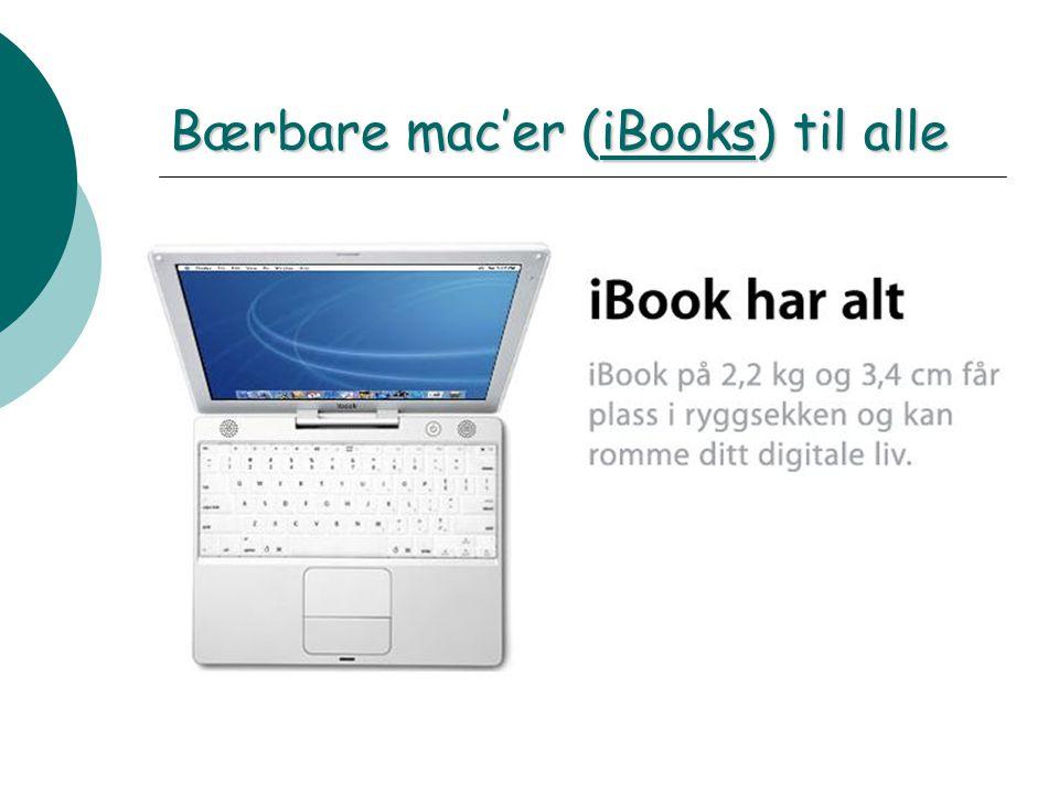 Bærbare mac'er (iBooks) til alle iBooks