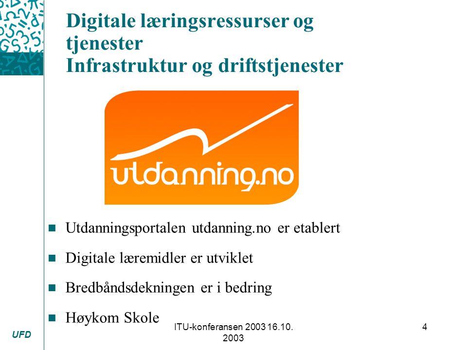 UFD ITU-konferansen 2003 16.10.