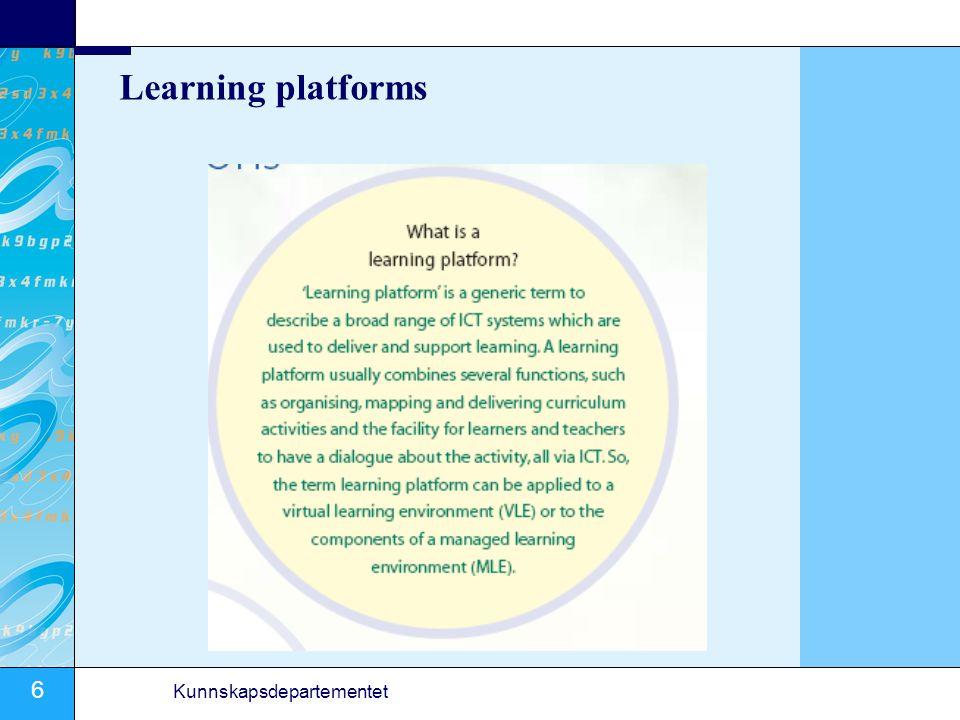 6 Kunnskapsdepartementet Learning platforms