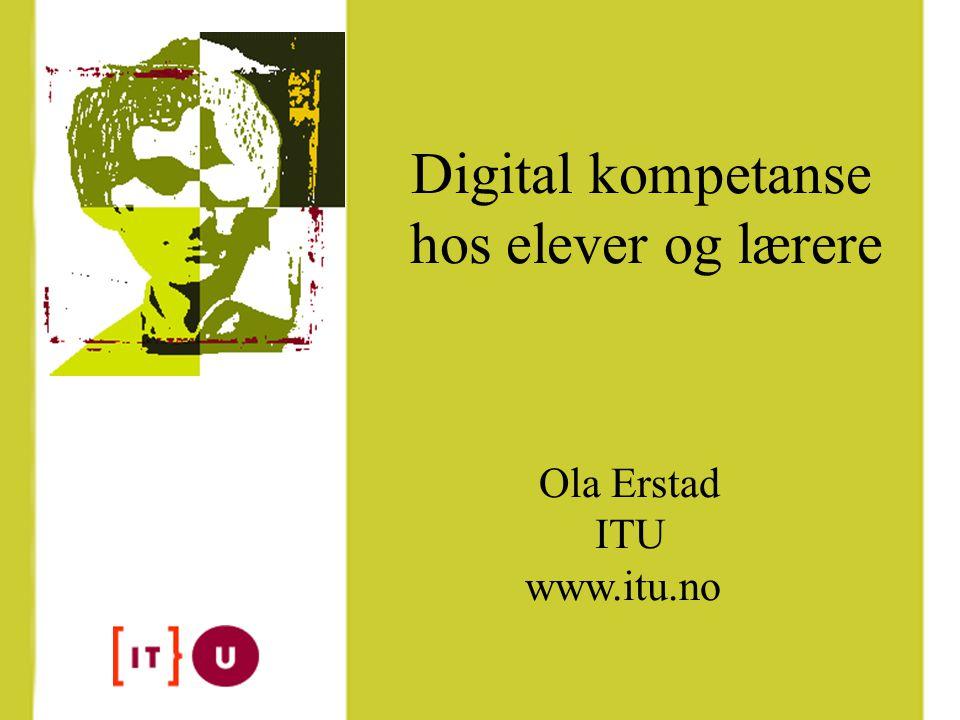 Forsknings- og kompetanse- nettverk for IT i utdanning (ITU) Del av KUFs 'Handlingsplan for IT i norsk utdanning'.