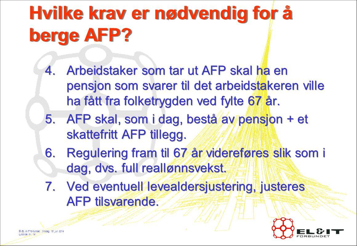 © EL & IT forbundet, tirsdag, 15.