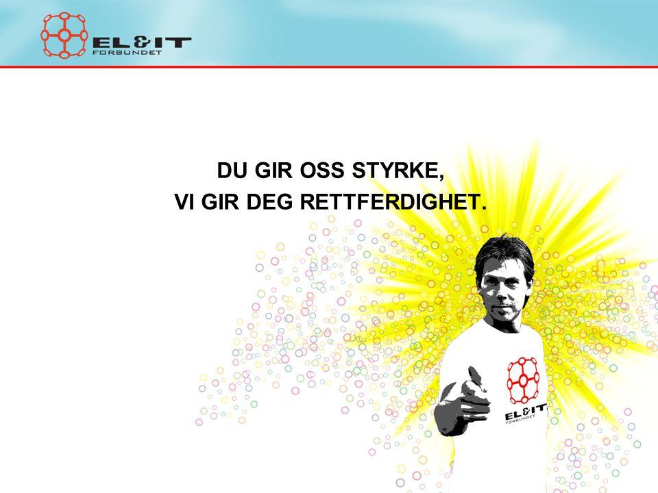 DU GIR OSS STYRKE, VI GIR DEG RETTFERDIGHET.