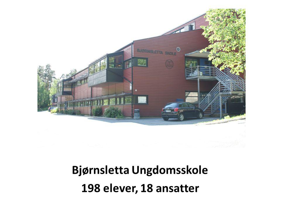 Bjørnsletta Ungdomsskole 198 elever, 18 ansatter