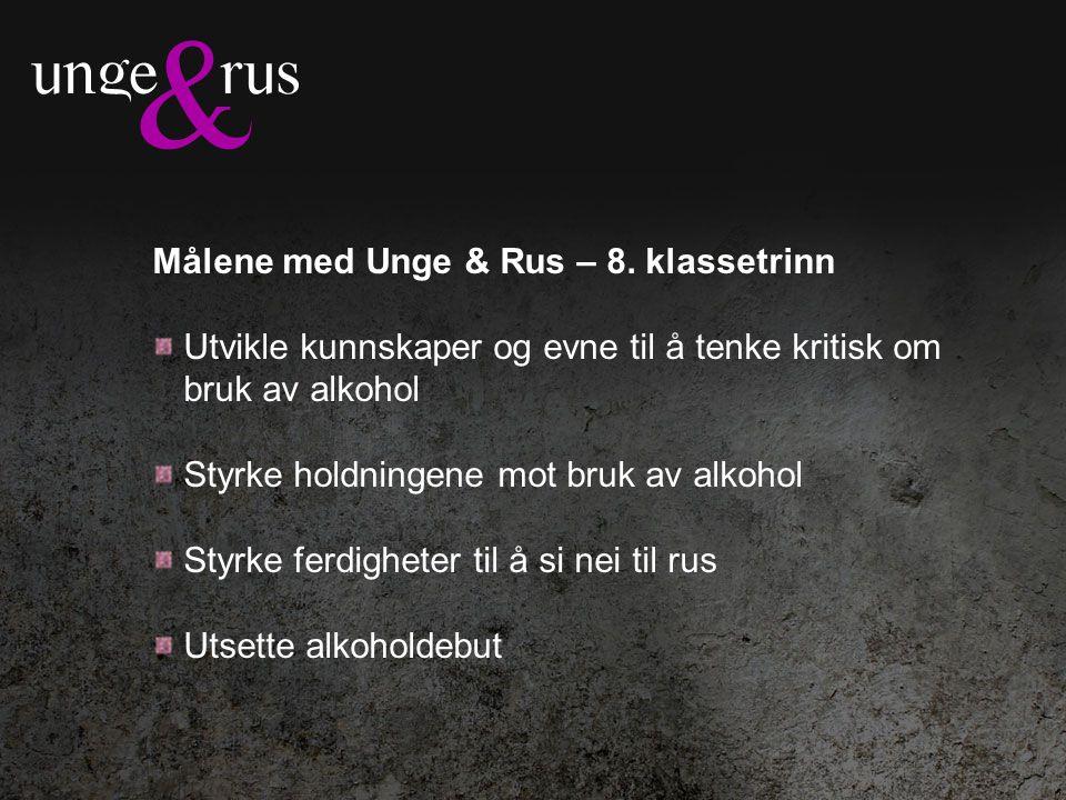 Målene med Unge & Rus – 8.