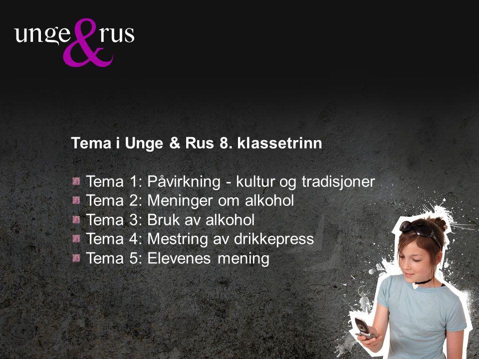 Tema i Unge & Rus 8.