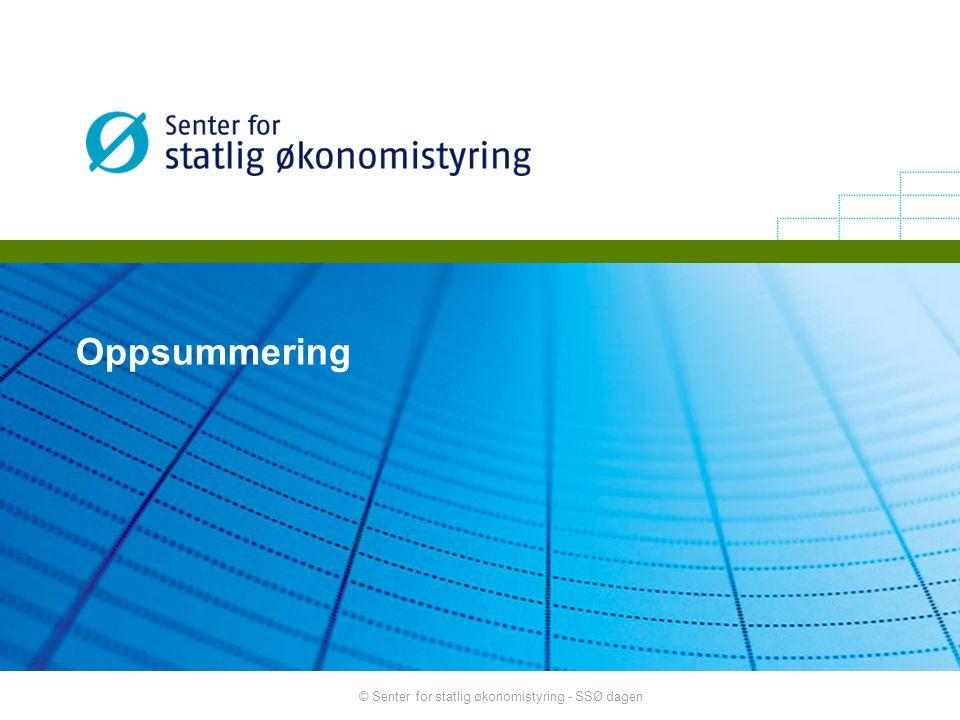 © Senter for statlig økonomistyring - SSØ dagen Oppsummering