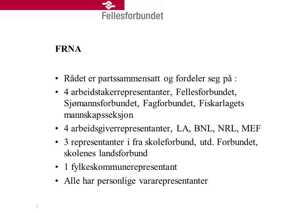 4 FRNA Rådene oppnevnes for en 4 års periode, er nå i begynnelsen av den andre Valgt et arbeidsutvalg på tre (partssammensatt) for de første 2 år.