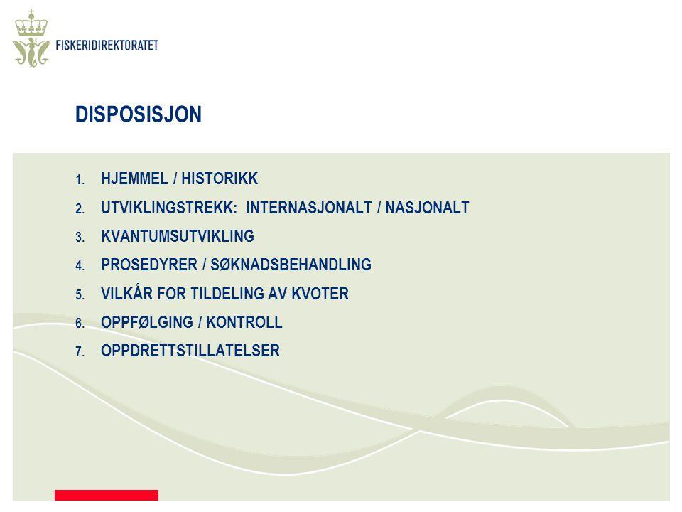 DISPOSISJON 1. HJEMMEL / HISTORIKK 2. UTVIKLINGSTREKK: INTERNASJONALT / NASJONALT 3.