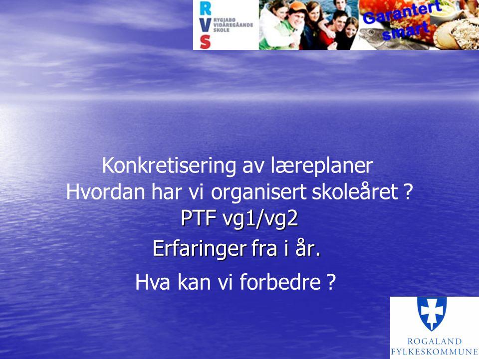 Hvordan har RFK valgt å gjøre det Fylket oppnevnte en fagnemd med 1 (2) person(-er) fra næringen + 2 fra skoler Fylket oppnevnte en fagnemd med 1 (2) person(-er) fra næringen + 2 fra skoler På vg1 blei det da 1 fra Rygjabø (blå variant) På vg1 blei det da 1 fra Rygjabø (blå variant) 1 fra en landbruksskole (Øksnevad) 1 fra en landbruksskole (Øksnevad) 2 fra næringen (1 blå og 1 grønn) 2 fra næringen (1 blå og 1 grønn)