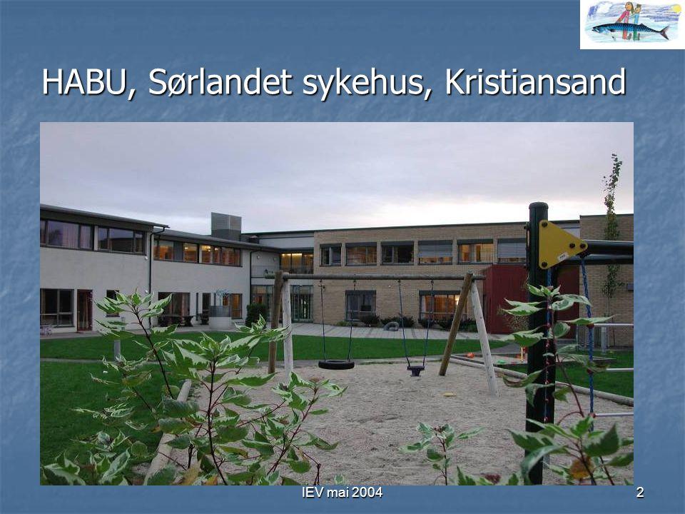 IEV mai 20042 HABU, Sørlandet sykehus, Kristiansand