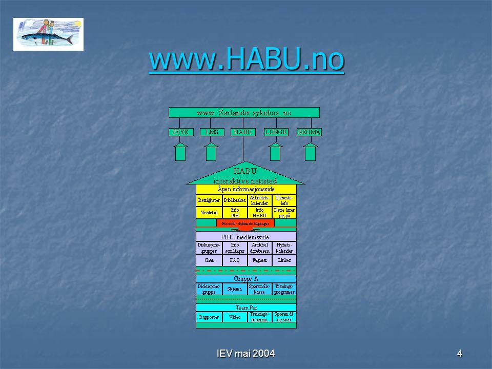 IEV mai 20044 www.HABU.no