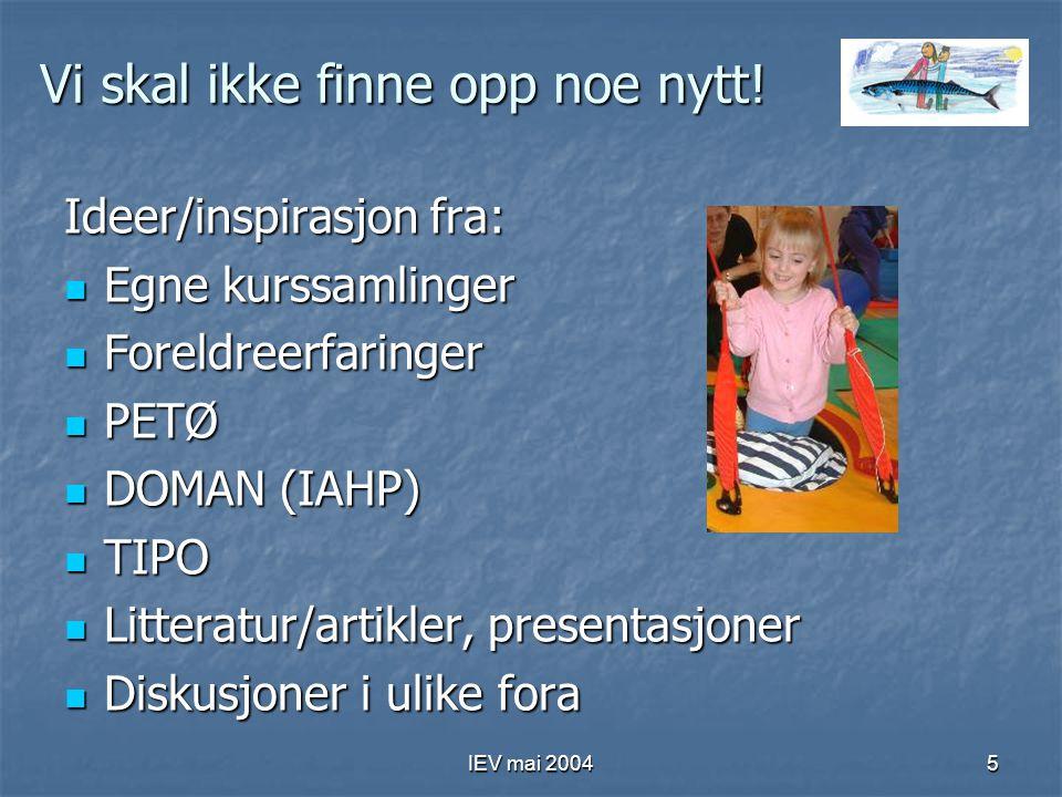 IEV mai 20046 Barnet i fokus – flere kanaler Programmet retter seg mot barnet direkte og indirekte (via tiltakene mot foreldre og fagfolk)