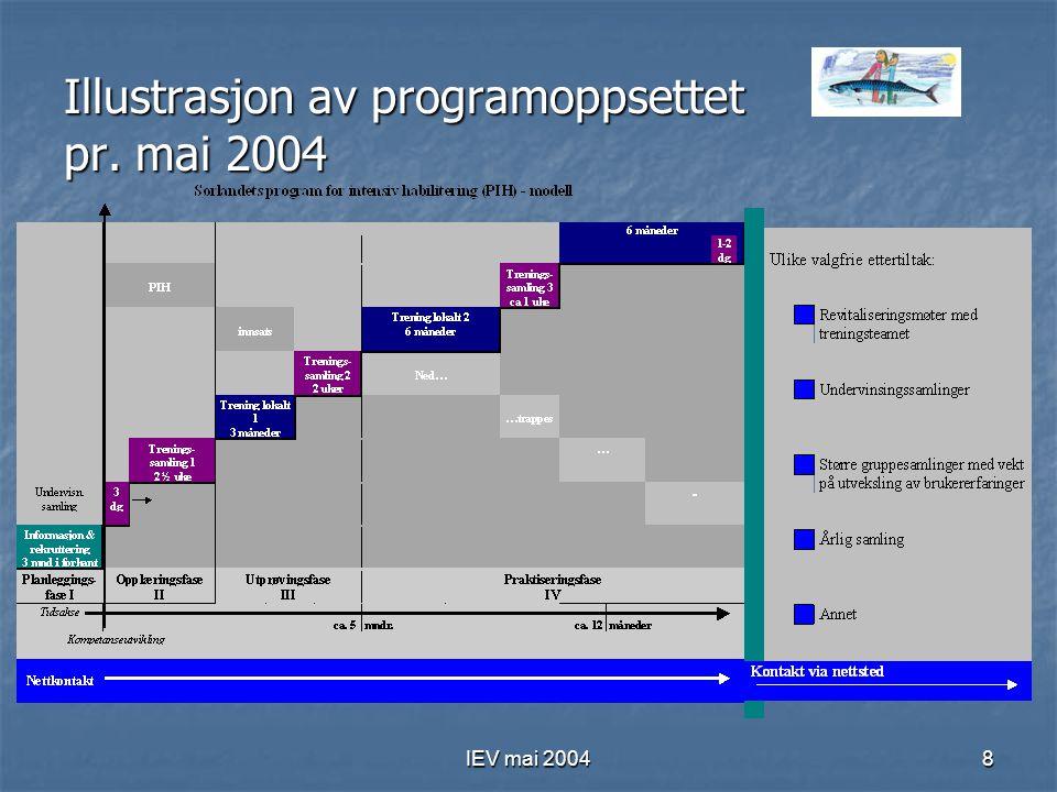 IEV mai 20048 Illustrasjon av programoppsettet pr. mai 2004