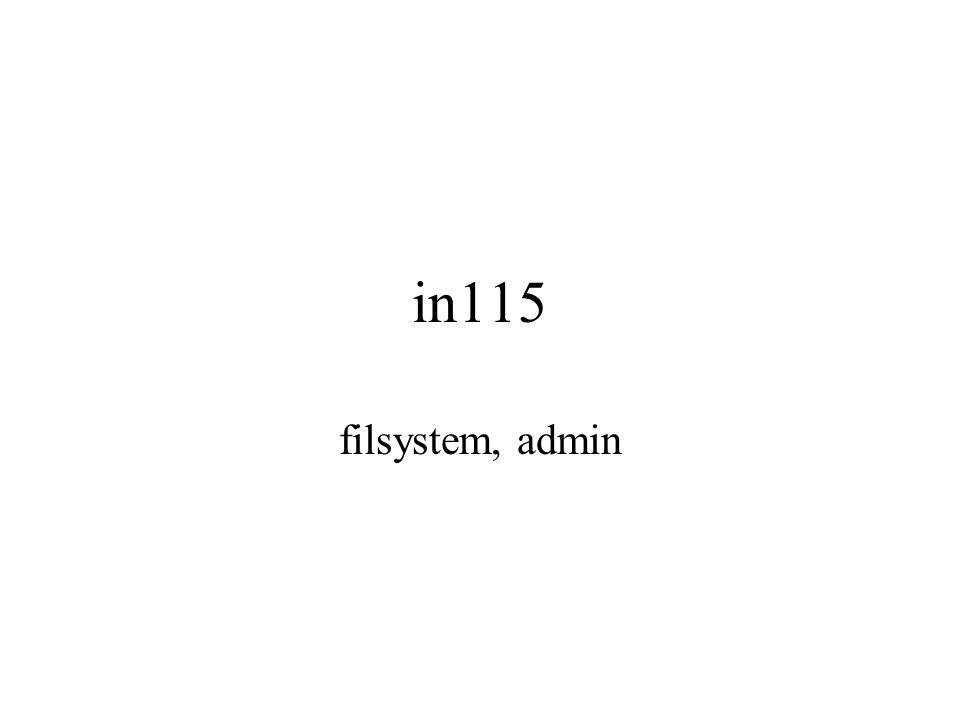 in115 filsystem, admin