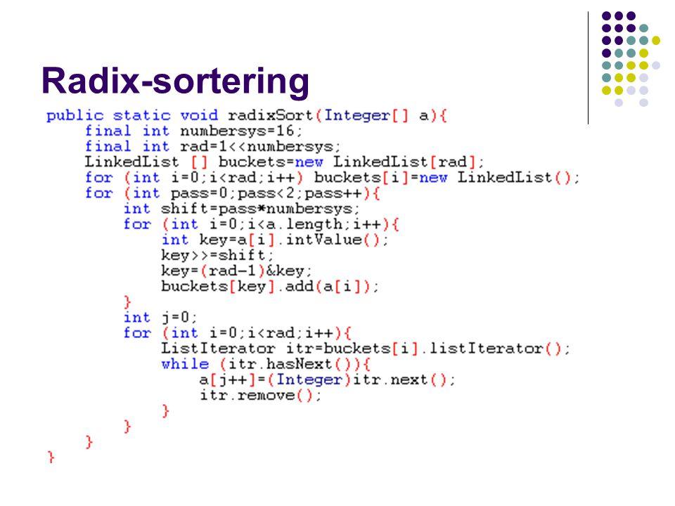 Radix-sortering