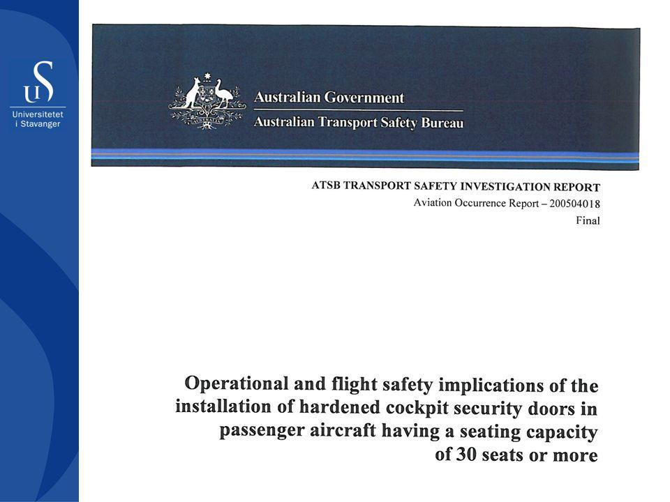 Noe må gjøres… Ansvarlige myndigheter bør gå nærmere igjennom potensialet for at security-tiltak kan påvirke flysikkerheten Ansvarlige myndigheter må vurdere i hvilken grad eksisterende mekanismer (herunder tilsynsfunksjoner) for regulering av luftfarten er tilstrekkelige for å håndtere interaksjonen mellom myndighetskravene til security-kontroll og sikkerhet.