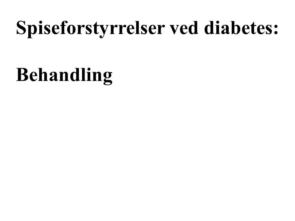 Spiseforstyrrelser ved diabetes: Behandling