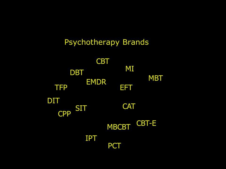 Psychotherapy Brands CPP TFP MBT DBT CBT IPT CAT DIT SIT EMDR MBCBT EFT CBT-E MI PCT