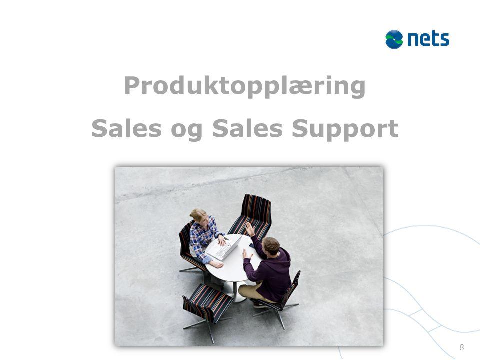 Produktopplæring Sales og Sales Support 8
