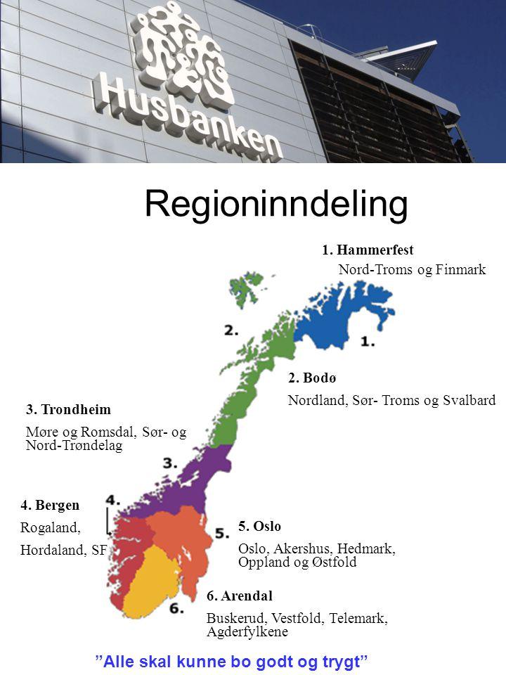 Regioninndeling 1. Hammerfest Nord-Troms og Finmark 2.