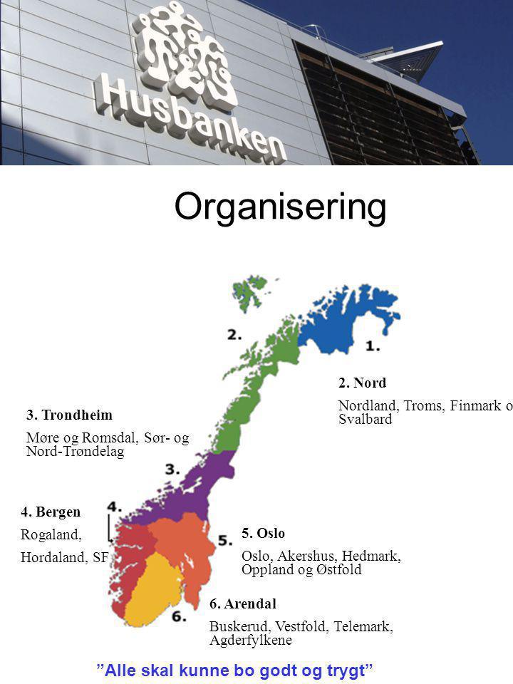 Organisering 2. Nord Nordland, Troms, Finmark og Svalbard 3.