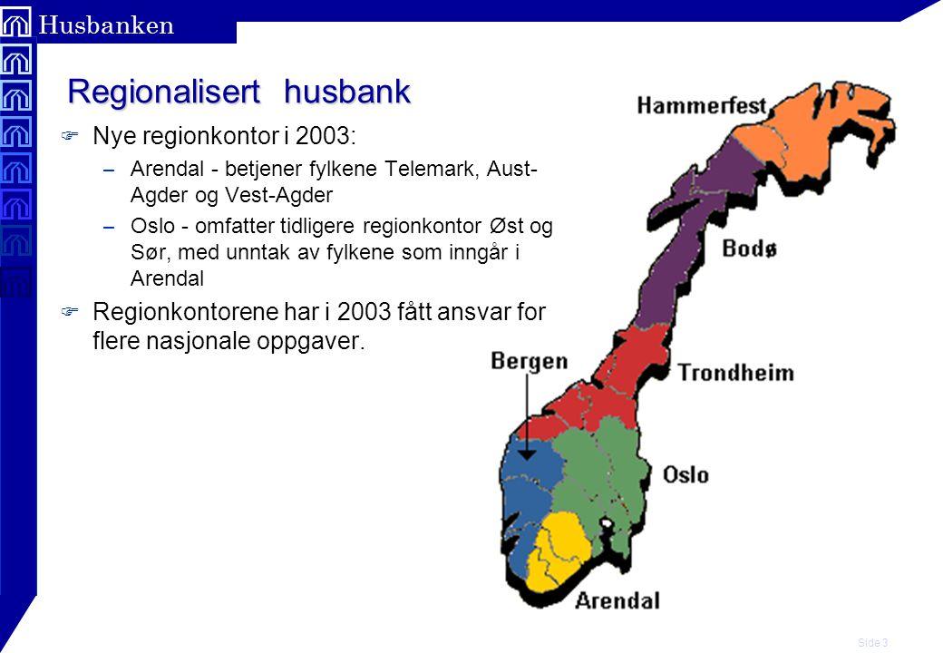 Side 4 Husbanken Antall ansatte og kvinneandel