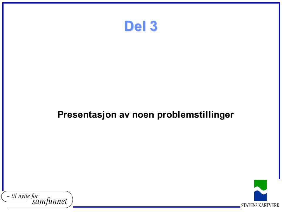 Del 3 Presentasjon av noen problemstillinger